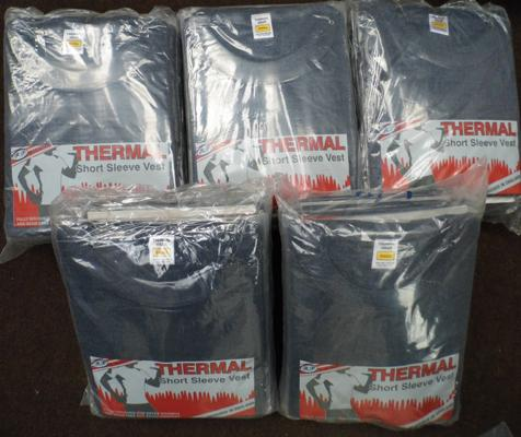 50 thermal t-shirts (small)