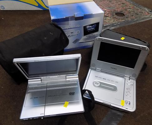 2x portable DVD players - as seen
