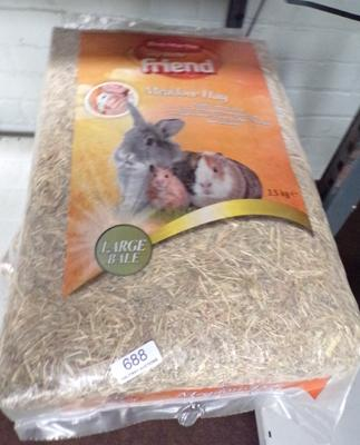 Three bags of hay