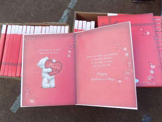 Selection of 'me to you' Valentine cards