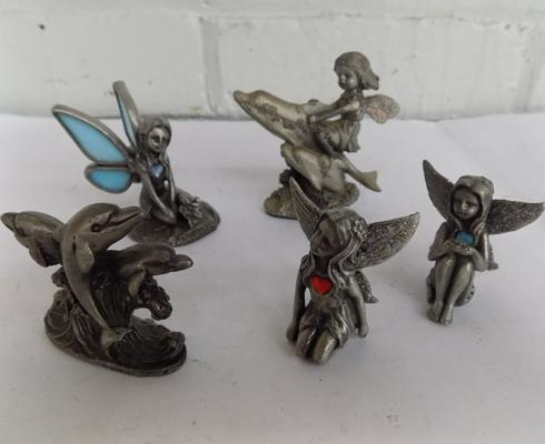 Selection of metal fairies