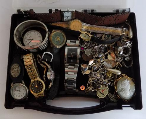 Selection of vintage watches and jewellery