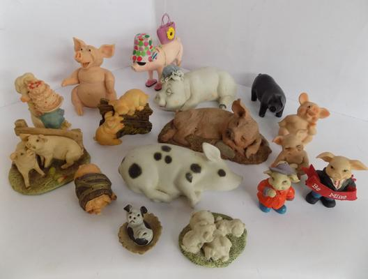 Selection of pig ornaments