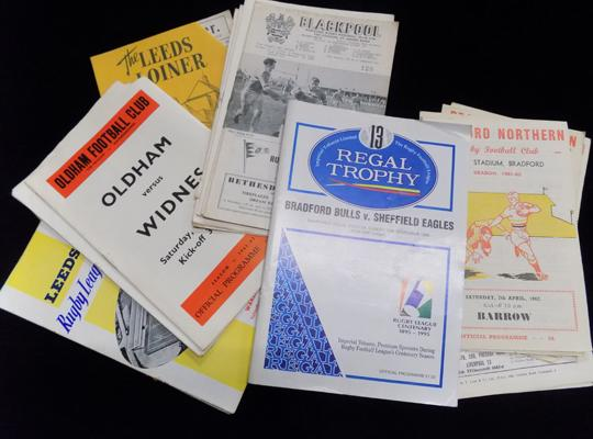 Large selection of early rugby programmes