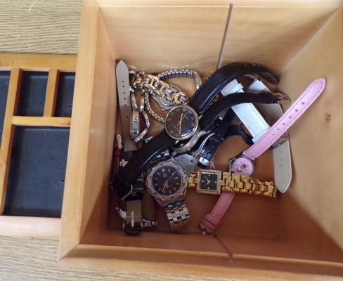 Wooden box of watches