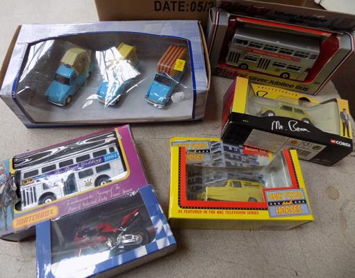Collection of 6 collectable and dinky diecast incl. Mr Bean - Only Fools and Horses