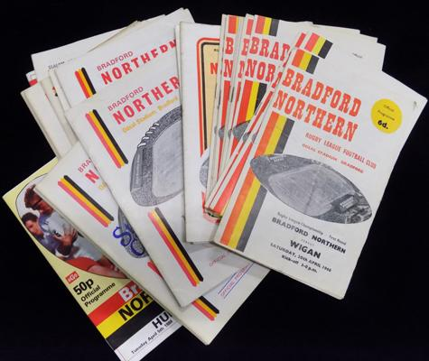Large selection of Bradford Northern programmes
