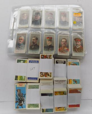 Cigarette cards & tub of trade cards
