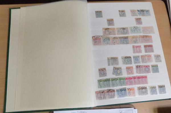 Stock book of 19th century Swedish stamps etc...