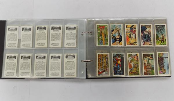 Eight full sets of cigarette cards & others