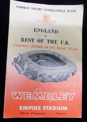 1963 Wembley - England v Rest of the World football programme