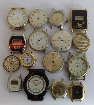 Selection of vintage watch parts