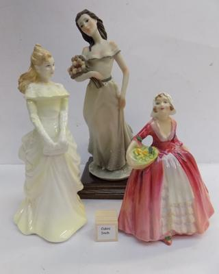 Two Royal Doulton figurines + one other