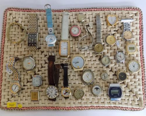 Selection of vintage watches and parts