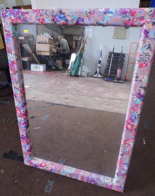 Psychedelic framed mirror