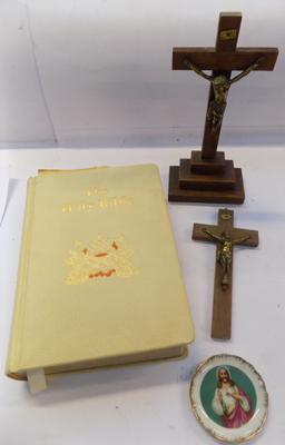 Selection of religious items, incl. bible