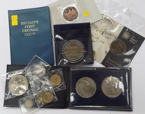 Selection of collector's coins incl. Queen Victoria, three pence coins