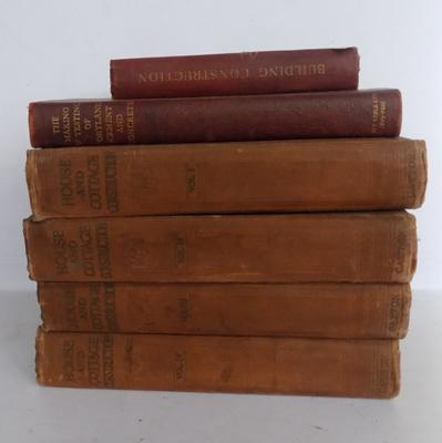 Selection of vintage/antique books, construction themed