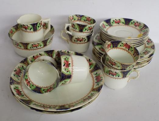 Vintage teaset with 22ct gold pattern work