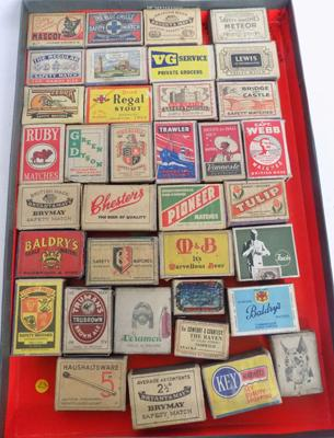 Collection of vintage matchboxes