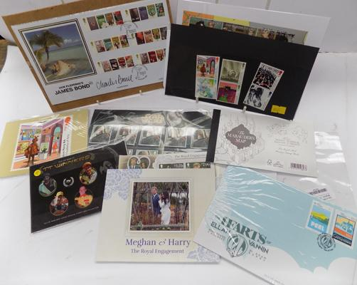Selection of first day covers & special edition stamps inc James Bond, Star Wars etc