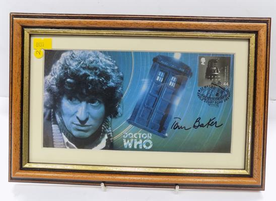 Dr Who-Tom Baker signed first day cover 1999 with certificate