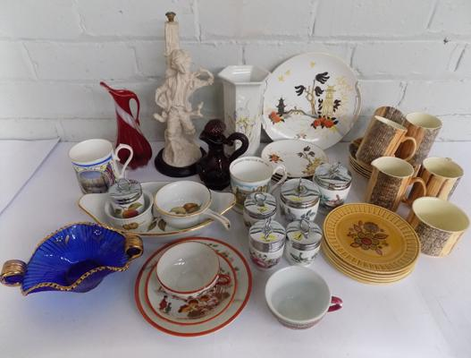 Box of ceramics incl. Royal Worcester, Staffordshire etc.