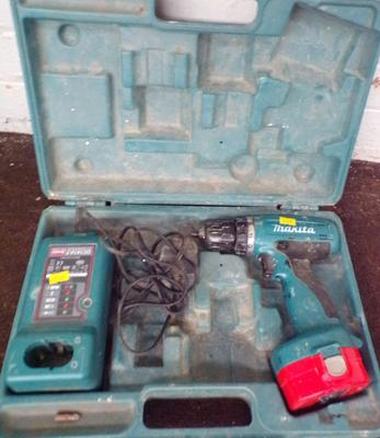 Makita drill, charger & case w/o