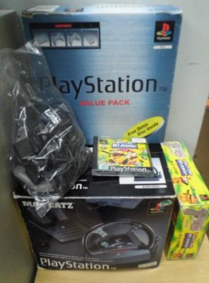 Playstation console & accessories - all in working order