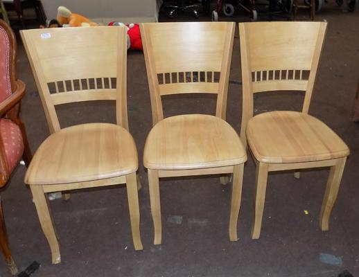 3x Bow back chairs