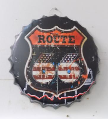 Tin plate 14 inch 'Route 66' sign