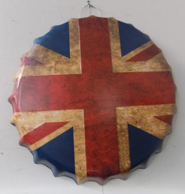 Tin plate 14 inch Union Jack sign
