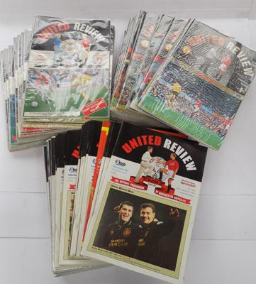 1990's collectable Manchester United Review magazines