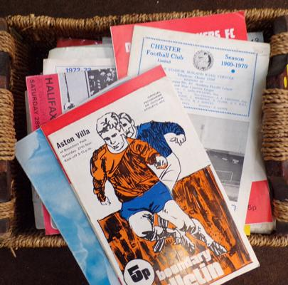 Large selection of match day programmes (over 50) 1960's-1990's