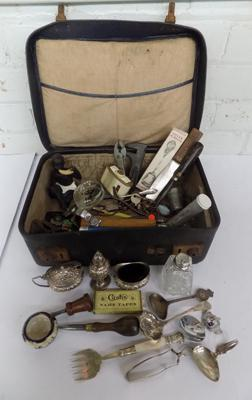 Small suitcase of mixed items