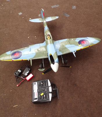 Spitfire remote control plane with controller