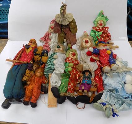 Box of ceramic clowns and others