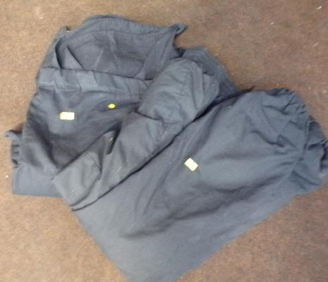 Ex police heavy duty water resistant jacket & trousers