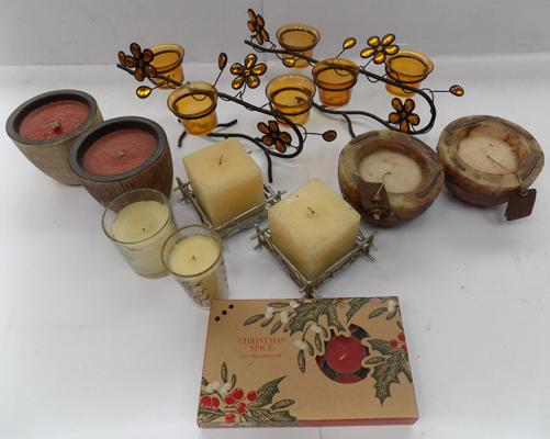 Selection of candle holders