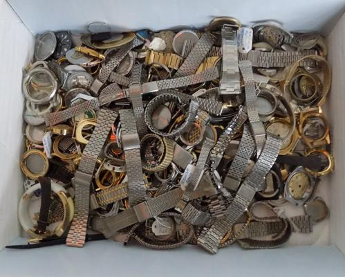 Large selection of watch parts and straps