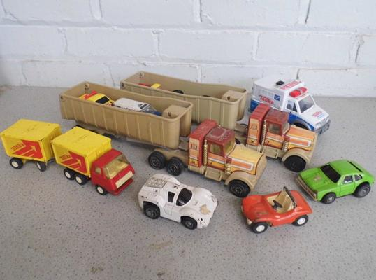 Vintage metal Tonka vehicles (some made in Japan)