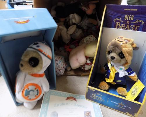 Box of vintage puppets - beanies and Meerkat boxed toys (Oleg)