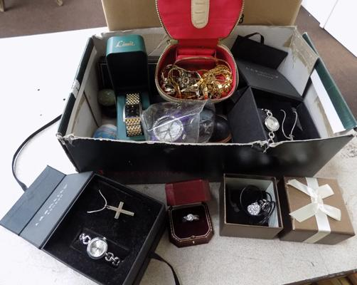 Quantity of boxed jewellery and watches