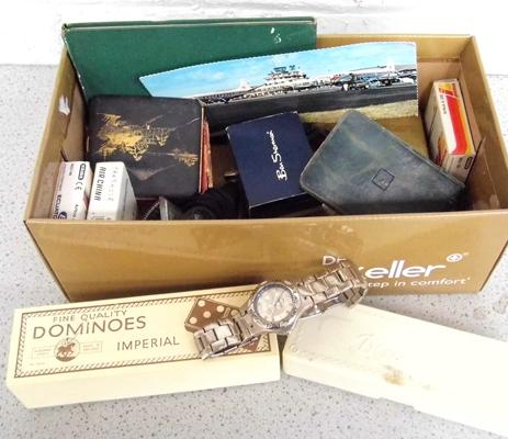 Selection of vintage items inc airline items & watches