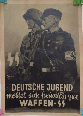 German propaganda poster 17 inches x 12 inches