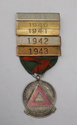 WWII era silver & enamel 'Safe Driving Competition' medal