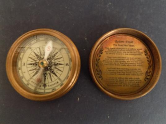 Brass Stanley of London - pocket compass - 1885