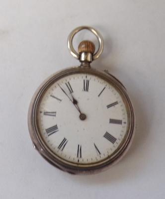 Antique solid silver cased Argent pocket watch (small)