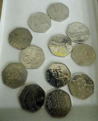Selection of collectable 50 pence pieces