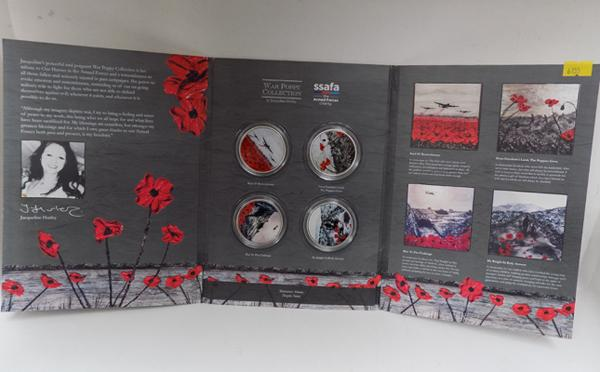 S.S.A.F.A war poppy collection of coins